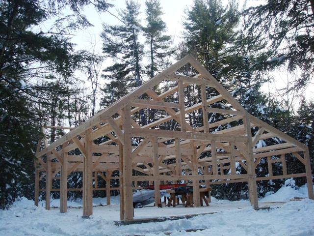 after raising the frame we enclosed this massachusetts party barn with sips and included large