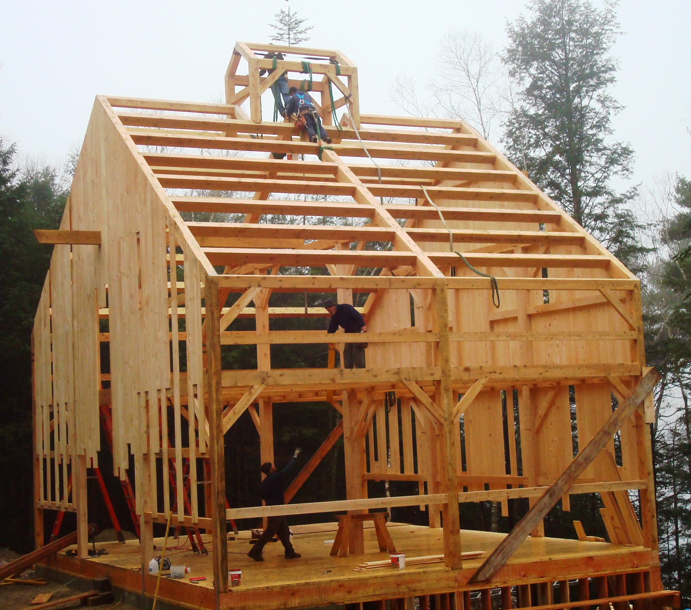 timber frame barn - photo #35