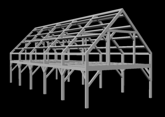 timber frame car barn commercial project