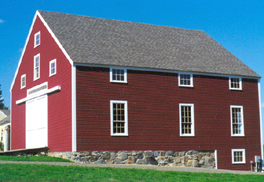 Completed Barn Style Post and Beam Building from Maine Barn Company