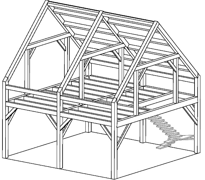 Pre Cut Timber Frame: Maine Barn Company