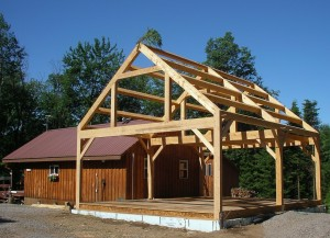 Hemlock Timber Frame Camp Addition New York
